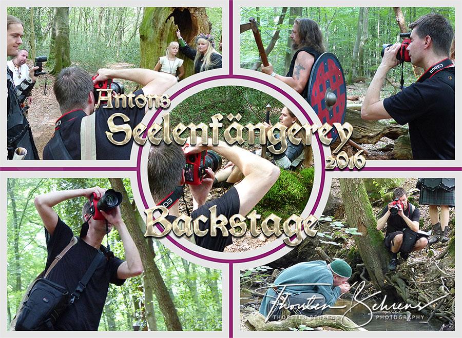 Portfolio - Blick hinter die Kulissen - Fotoshooting (Portrait- & Gruppenfotografie) im Hasbruch bei Hude und auf dem Gelände der Klosterruine Hude, 2016 (Fotos: M. Engbrink)
