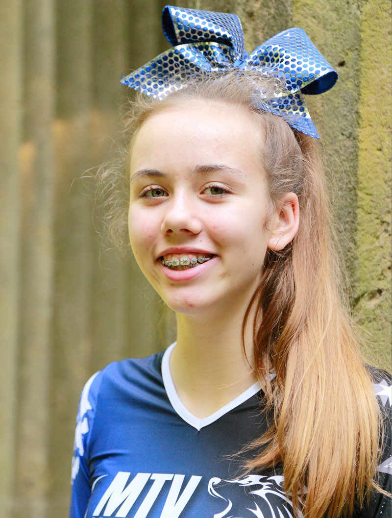 Portraitfotoshooting für die Cheerleader