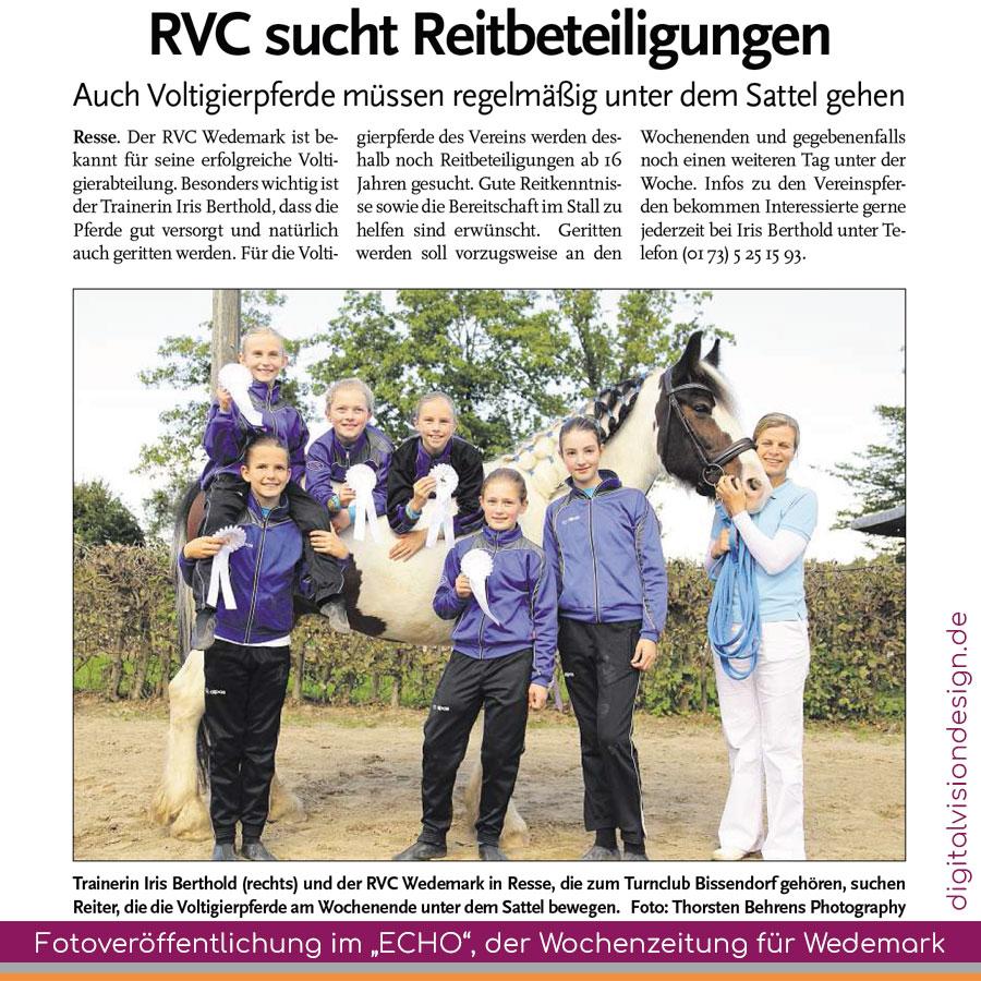 """++ Fotoveröffentlichung (Thorsten Behrens Photography) im """"ECHO"""", der Wochenzeitung für Wedemark ++"""