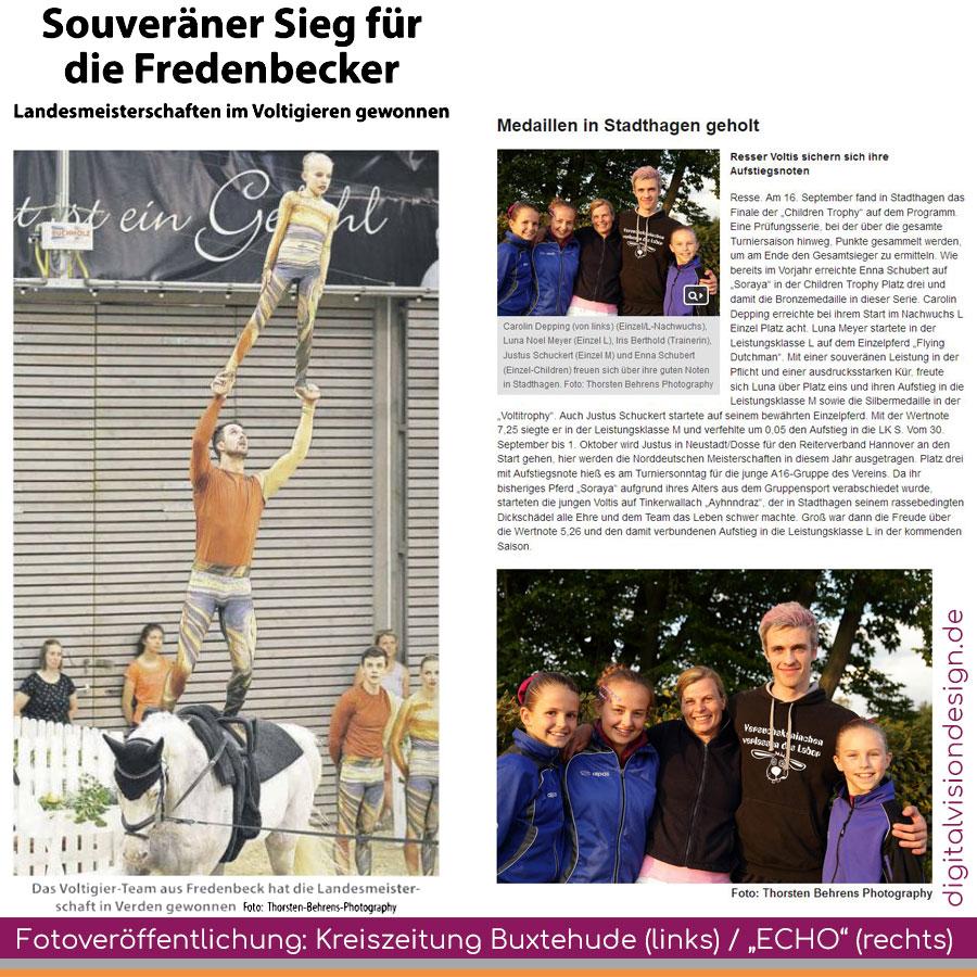 ++ Fotoveröffentlichung (Thorsten Behrens Photography) in der Kreiszeitung Buxtehude ++