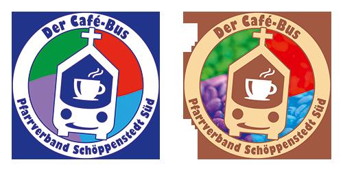 Reinzeichnung des Logos für den Café-Bus aus dem Jahr 2019 (Abb. links) und 2020 (Abb. rechts)