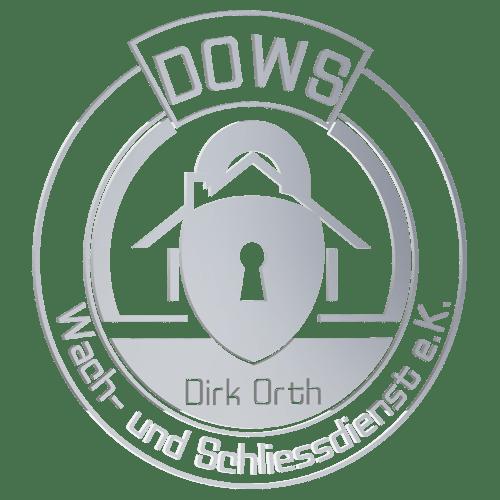 """- Das Logo für den """"Dirk Orth Wach- und Schliessdienst e.K."""" (DOWS)  im Portfolio ansehen -"""