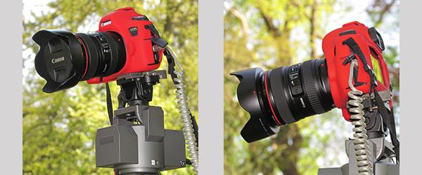 Die Kamera wird auf dem elektronischen Schwenk-Neigekopf vom Erdboden aus ferngesteuert. Das Livebild wird auf dem Notebook kontrolliert, eingestellt, ausgelöst und gespeichert.