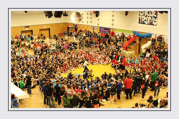 Die Sportveranstaltung, Turnierwettkämpfe und Siegerehrungen von der Hallendecke aus erleben, eindrucksvolle Fotos für die Presse- und Öffentlichkeitsarbeit erhalten? Das Hochstativ macht´s möglich!