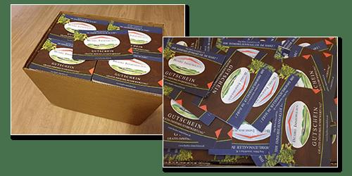 Entwurf (Layout bis Reinzeichnung) und Produktion von Flyer (DIN A5) und Karte (DIN A6) als Werbebeilage von Zeitungen für Jörg Bühre Immobilien e.K. aus Bad Lauterberg im Harz.