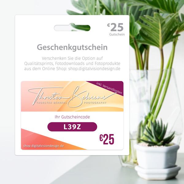 Geschenkgutscheine: Verschenken Sie die Option auf Qualitätsprints, Fotodownloads und Fotoprodukte aus dem Online Shop - shop.digitalvisiondesign.de